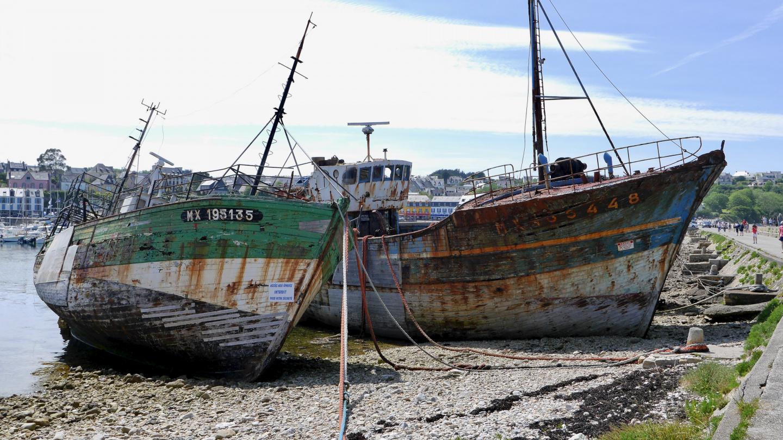 Graveyard of fishing vessels in Camaret-sur-Mer, Brittany