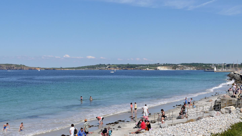The beach of Camaret-sur-Mer, Brittany