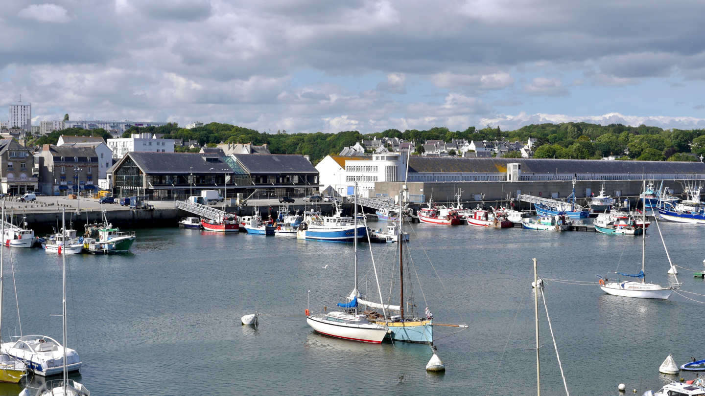 Fishing port of Concarneau in Brittany