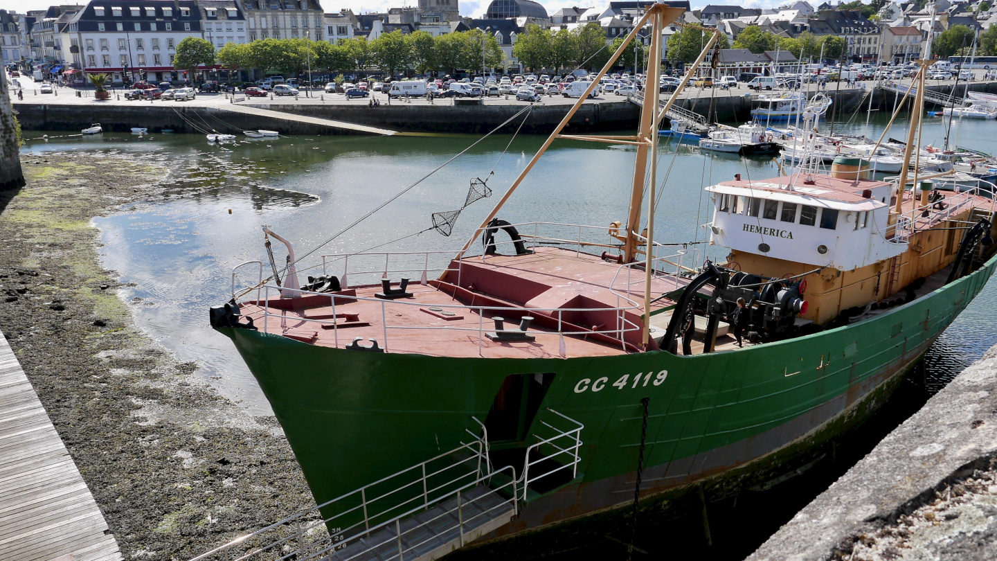 The trawler Hémérica in Concarneau in Brittany