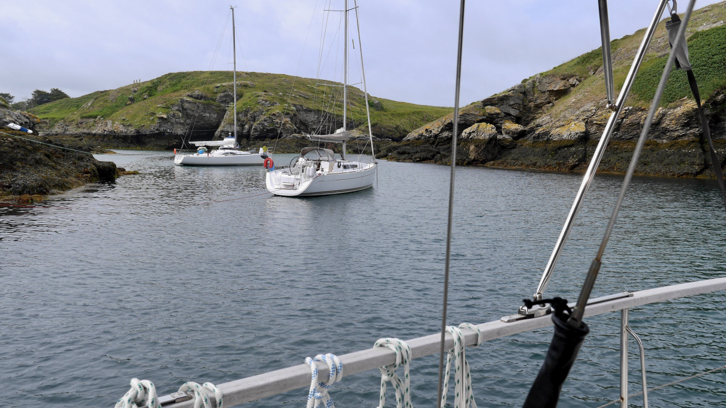 Anchorage of Stêr-Ouen in the Belle Île island in Brittany