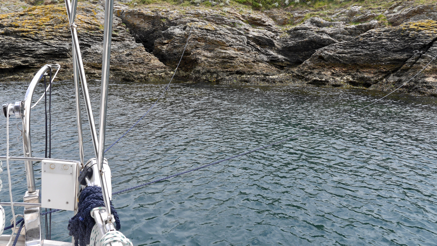 Suwena's stern lines in Stêr-Ouen of the Belle Île island in Brittany