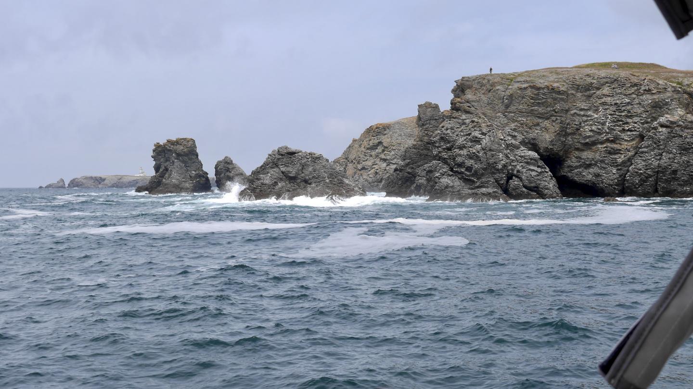 Rantakalliot Stêr-Ouen lahden suulla Belle Île saarella Bretagnessa