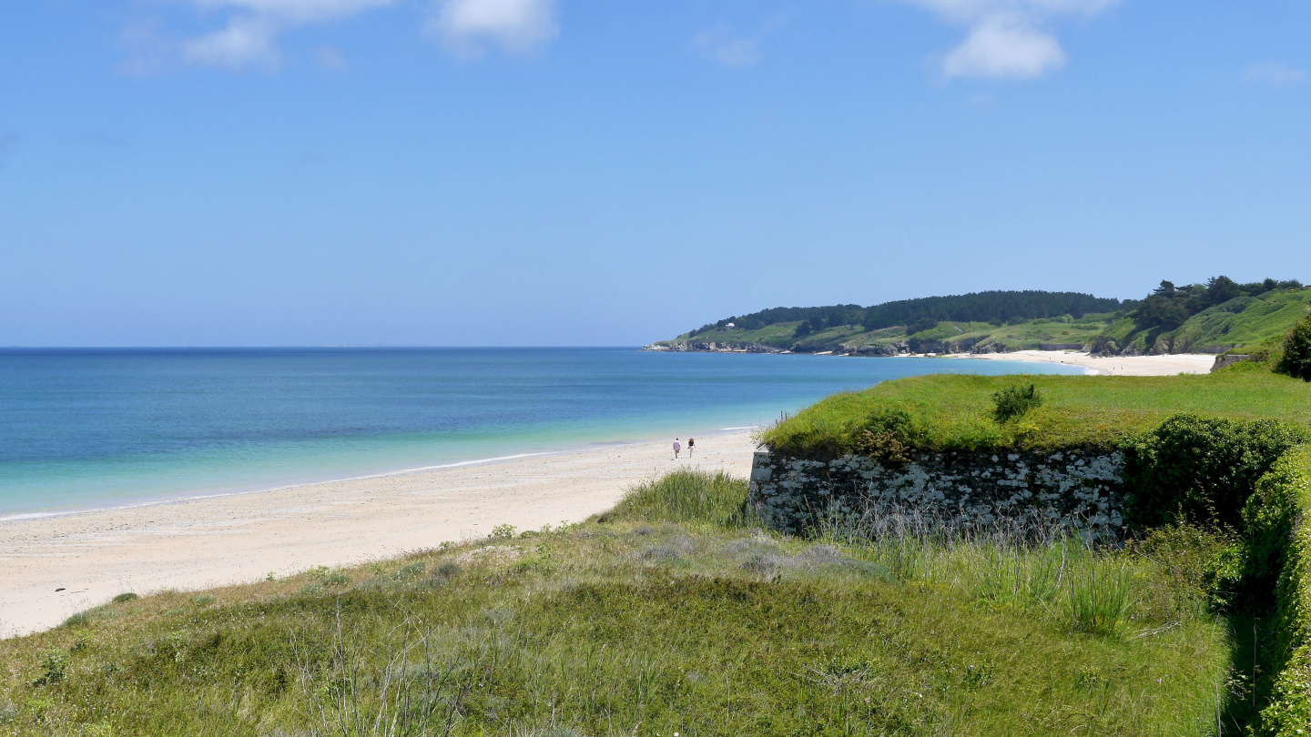 Beach on the island of Belle-Île in Brittany