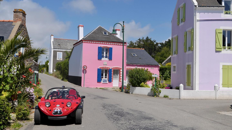Kervilahouen kylä Belle-Île saarella Bretagnessa