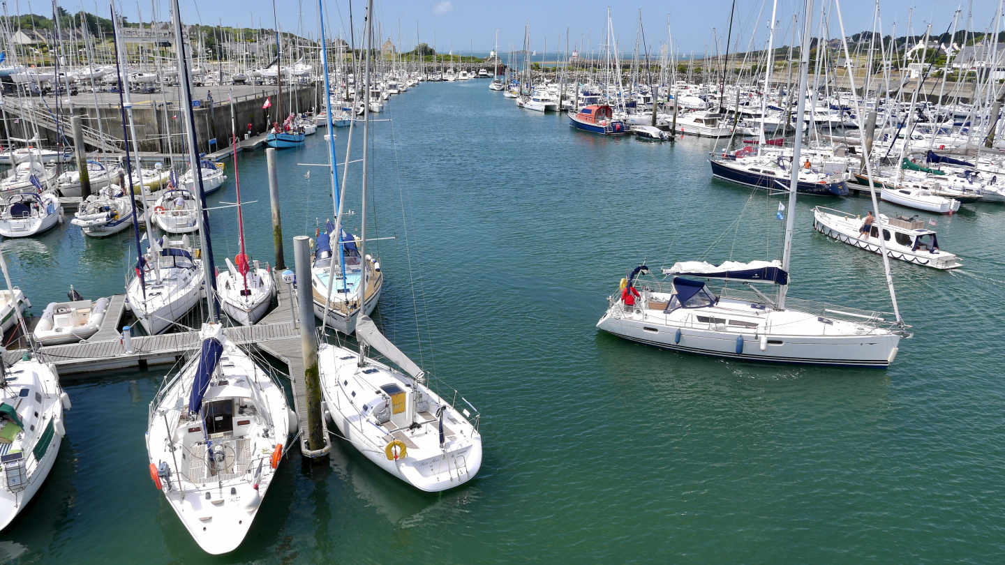 The marina of Crouesty in Brittany