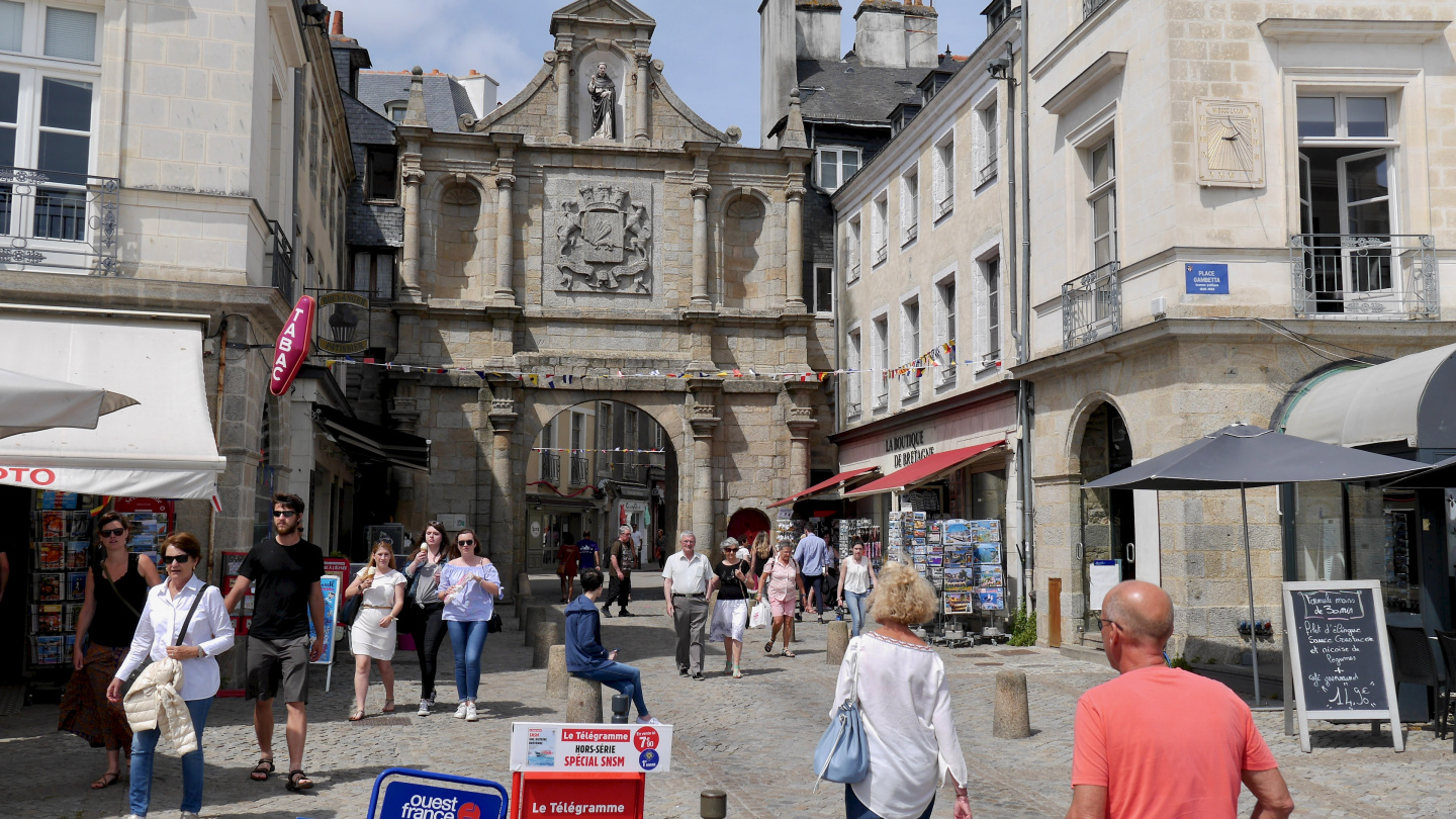 The gate of old town, Porte Saint-Vincent in Vannes, Brittany