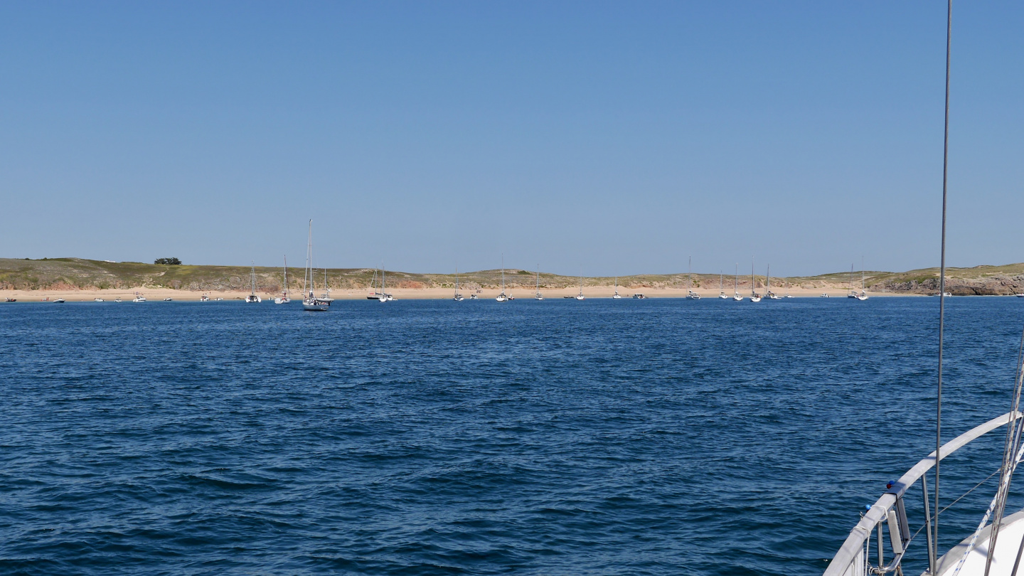 The anchorage of Tréac'h ar Salus in Houat in Brittany