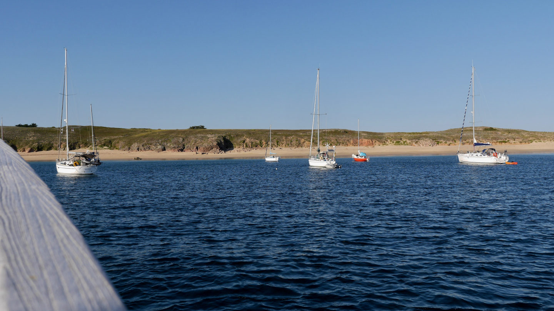 Houatin saaren Tréac'h ar Salus lahti Bretagnessa