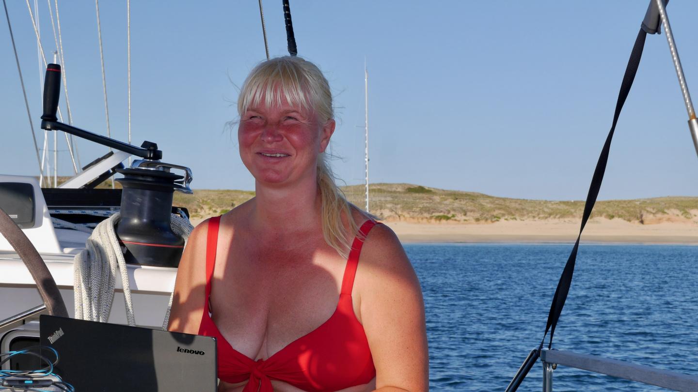 Eve Houatin saarella Bretagnessa