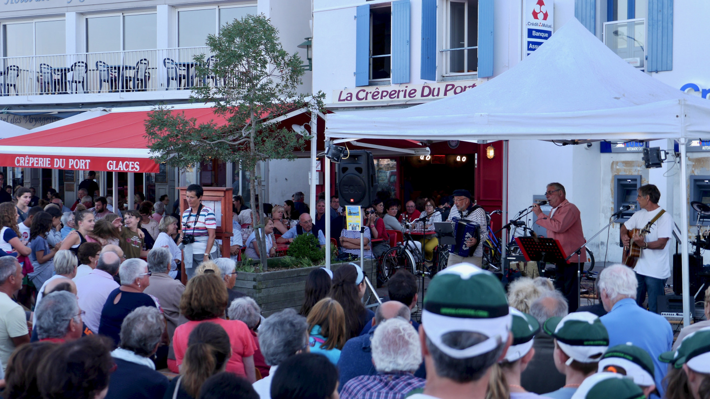 Summer event in Port-Joinville of Île d'Yeu in France