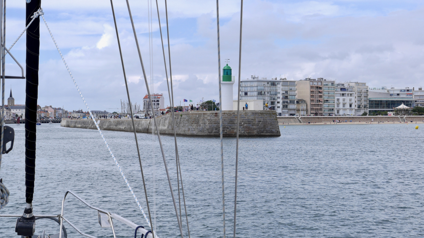 The entrance of Les Sables d'Olonne in France