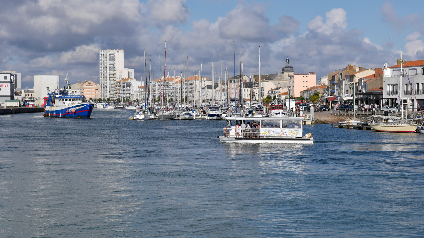 The smaller marina of Les Sables d'Olonne in France