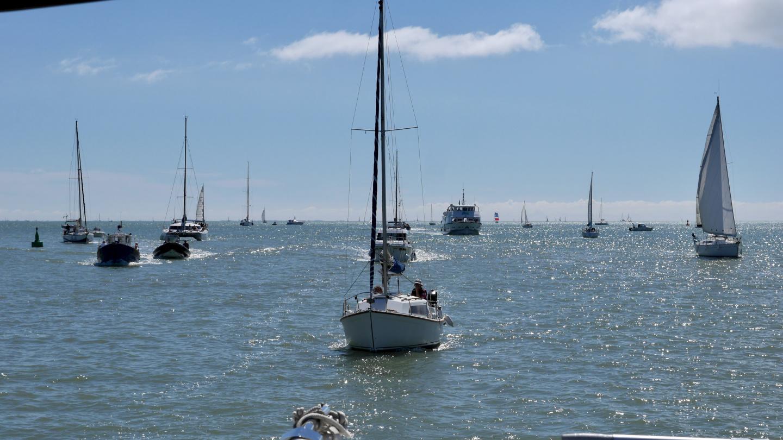 Veneitä La Rochellen edustalla
