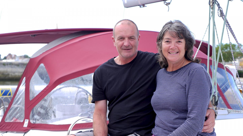 John and Caroline on S/Y Ceilidh in La Rochelle