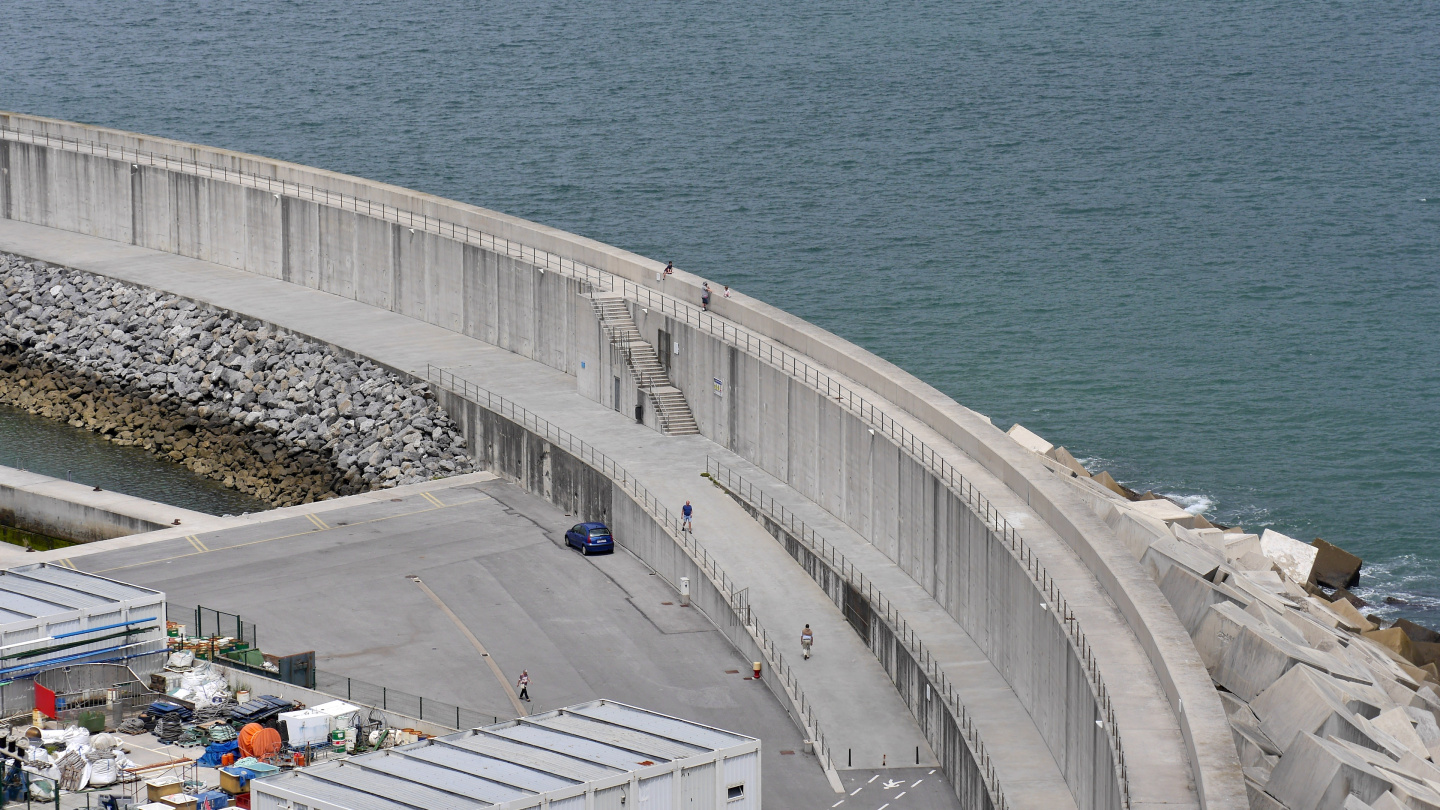 The new breakwater of Laredo in Spain