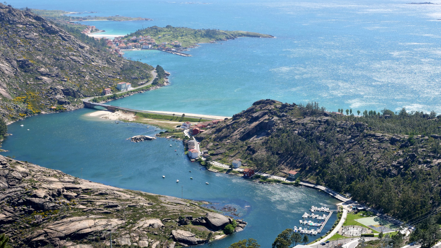 View from the top of Mirador de Ézaro in Galicia