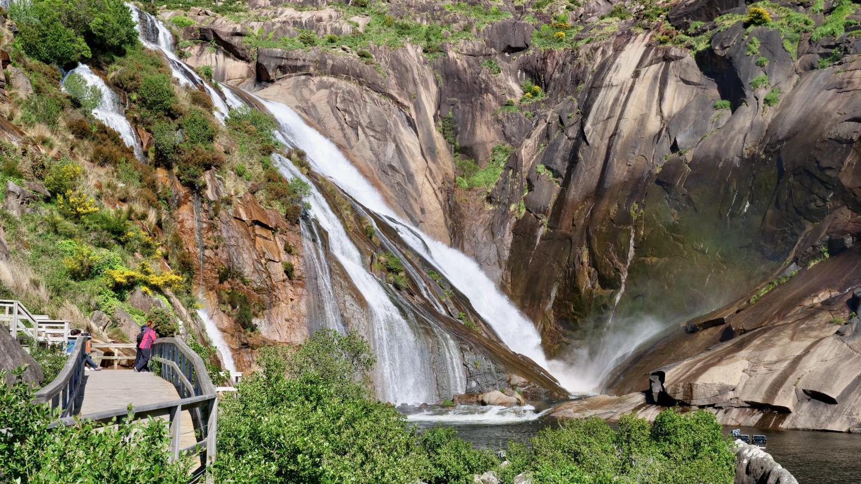Waterfall of Mirador de Ézaro in Galicia
