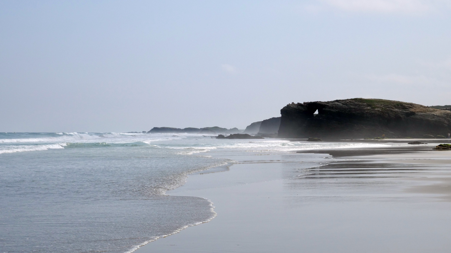 The beach of Playa de las Catedrales in Galicia