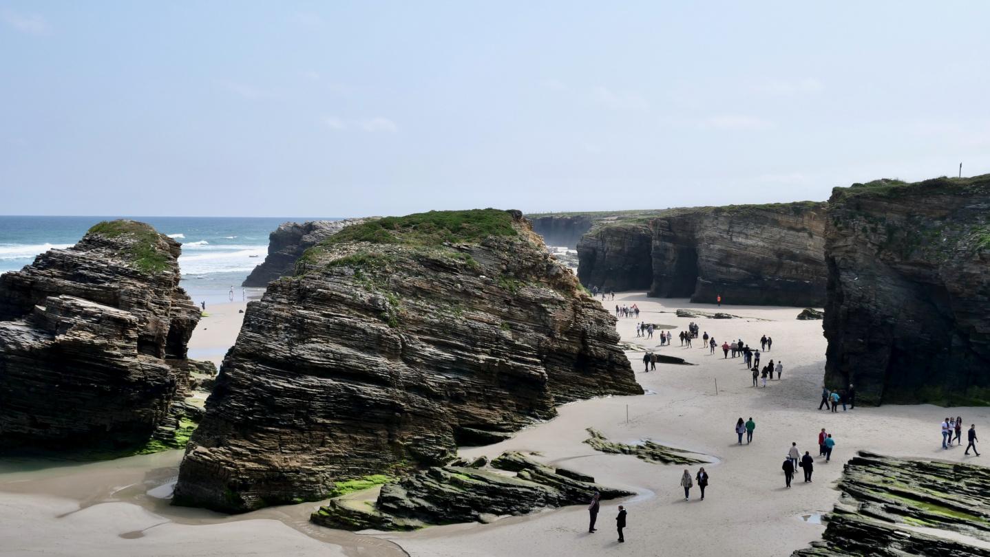 The beach of Playa de las Catedrales in Galicia