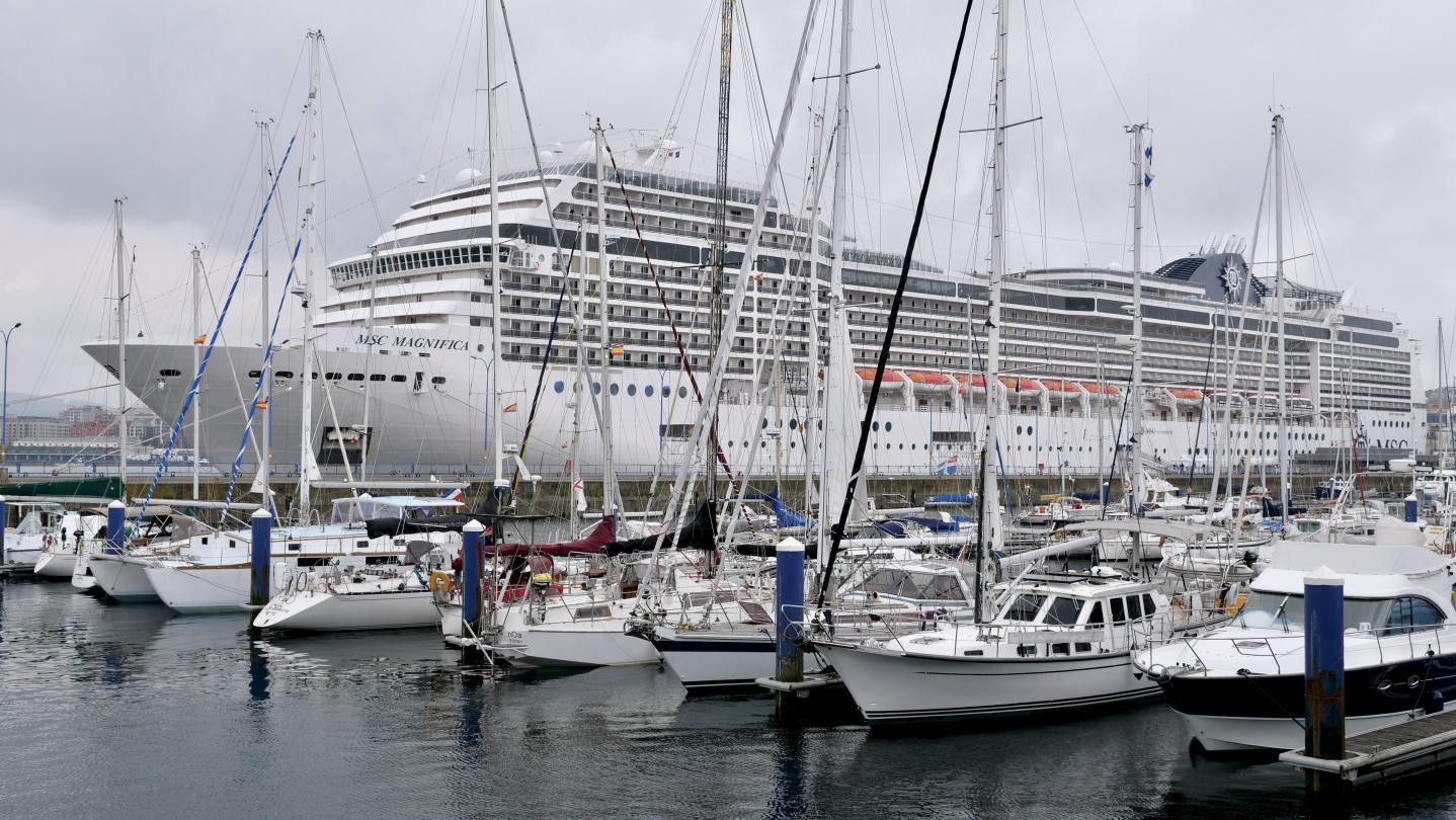 Suwena in the marina of Club Nautico in A Coruña, Galicia