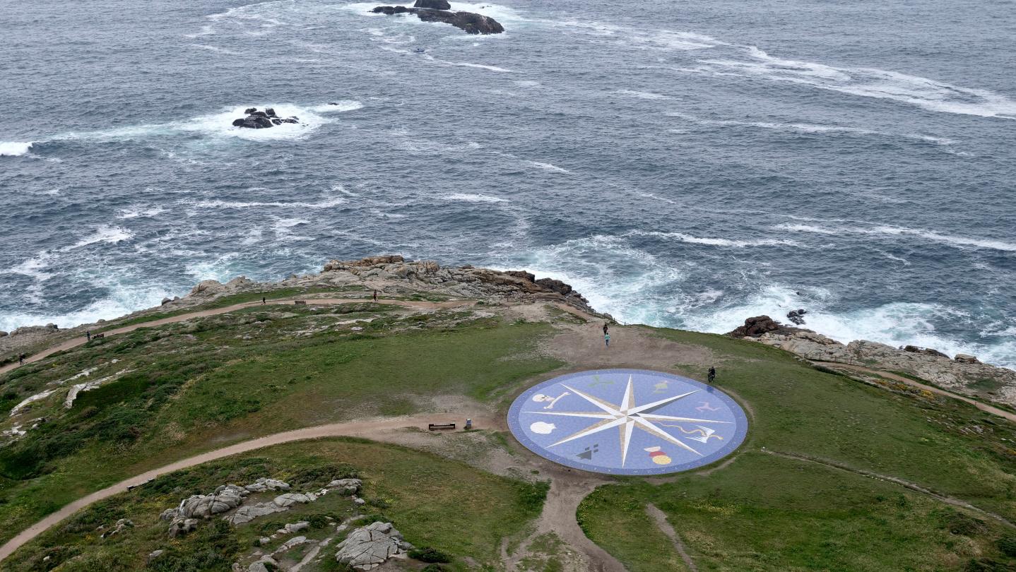 The Celtic compass rose in A Coruña, Galicia