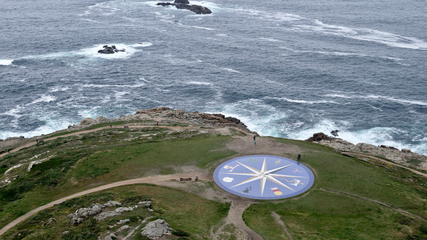 The Celtic compass rose in A Coruña, Galicia