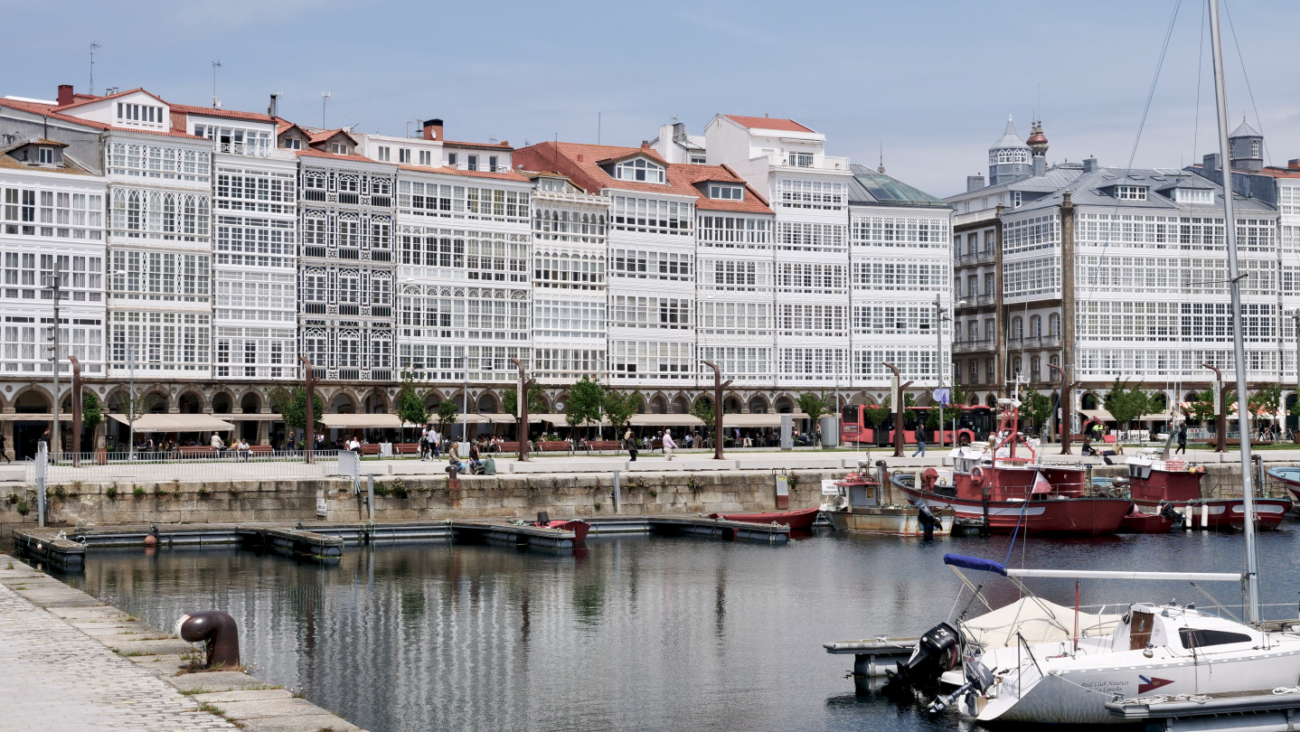 World-famous galleries of Coruña, Galicia