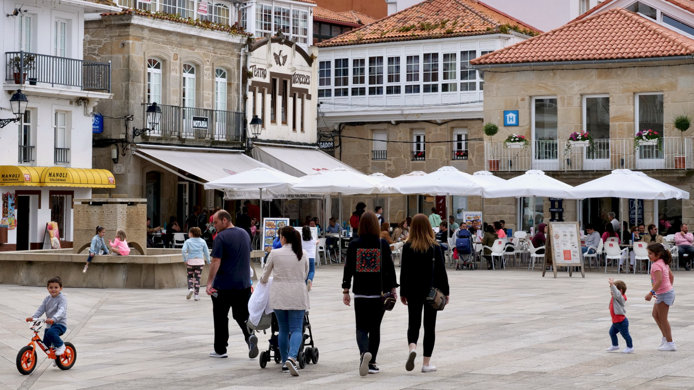 Plaza Curroda Praza in Muros of Galicia
