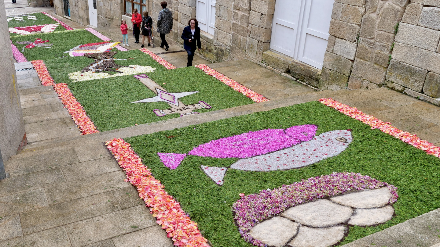 Flower carpets of Corpus Christi in Muros of Galicia