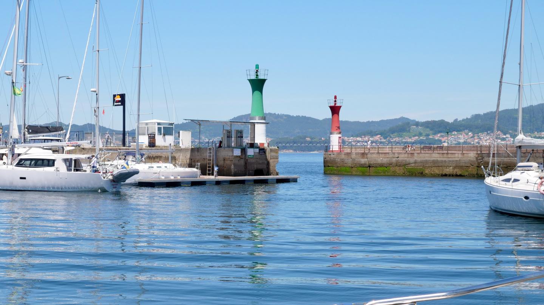 Entrance to the marina of Real Club Nautico de Vigo, Galicia