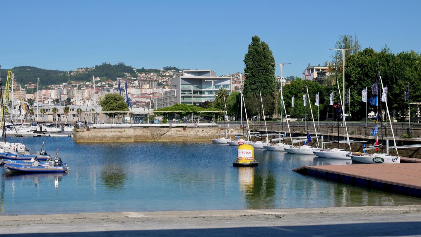 Dinghy pontoon of RCNV in Vigo, Galicia
