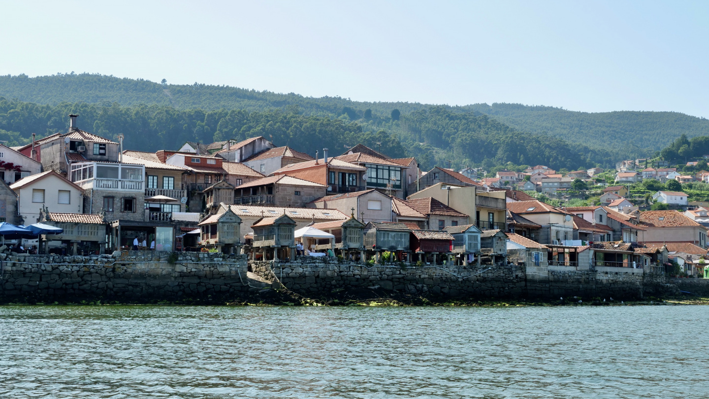 Horreos at the waterfront of Combarro, Galicia