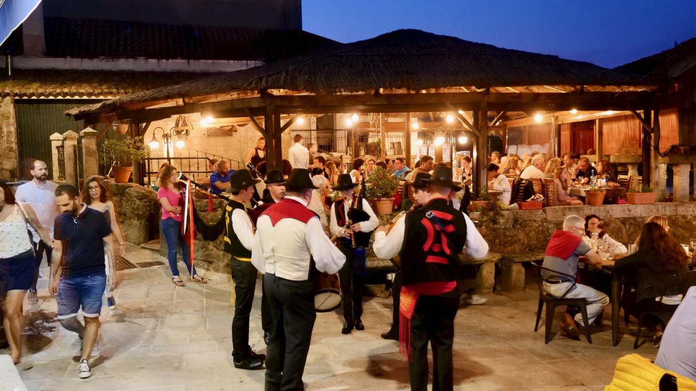 San Xoán Midsummer party in Combarro, Galicia