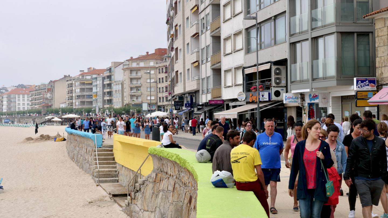 Waterfront of Sanxenxo, Galicia, Spain