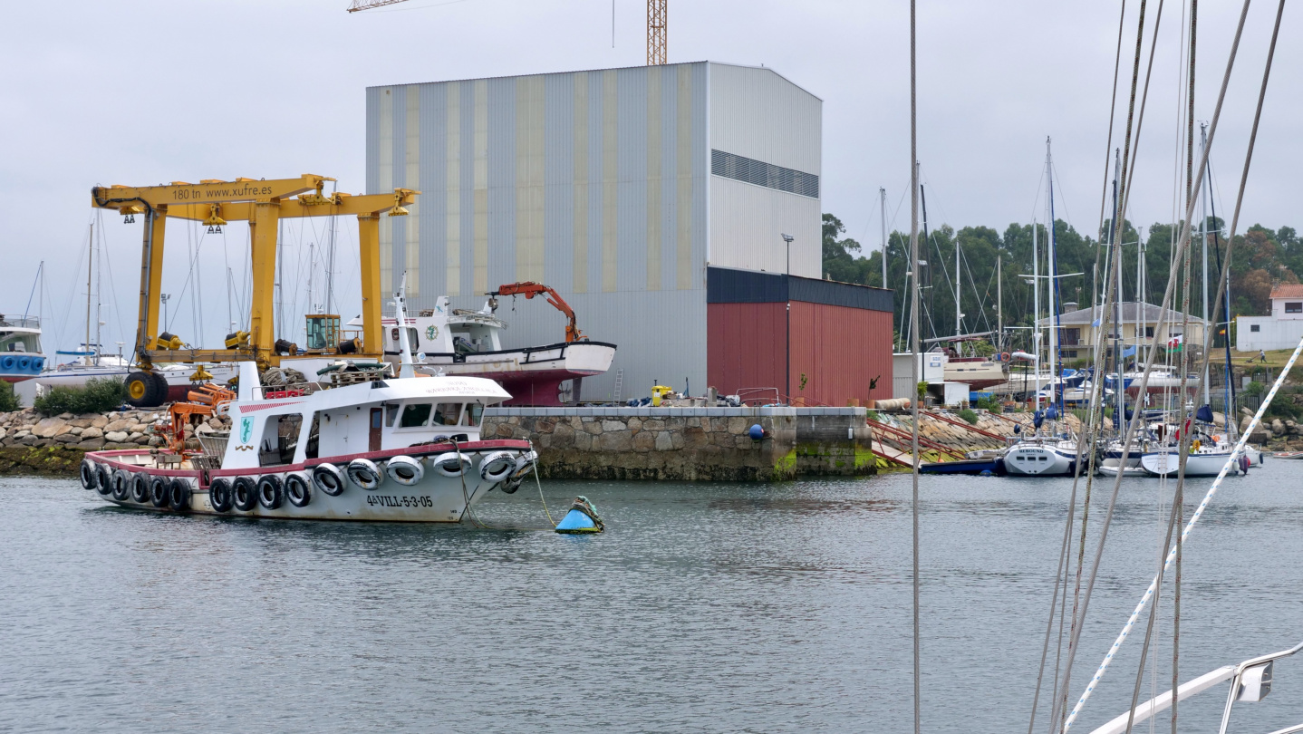 Xufre boatyard in the island of Arousa in Galicia
