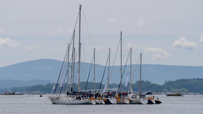 Sailor's get-together in ría de Arousa, Galicia