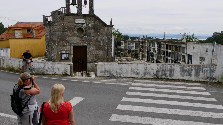 The church of Santa Cruz village, Galicia