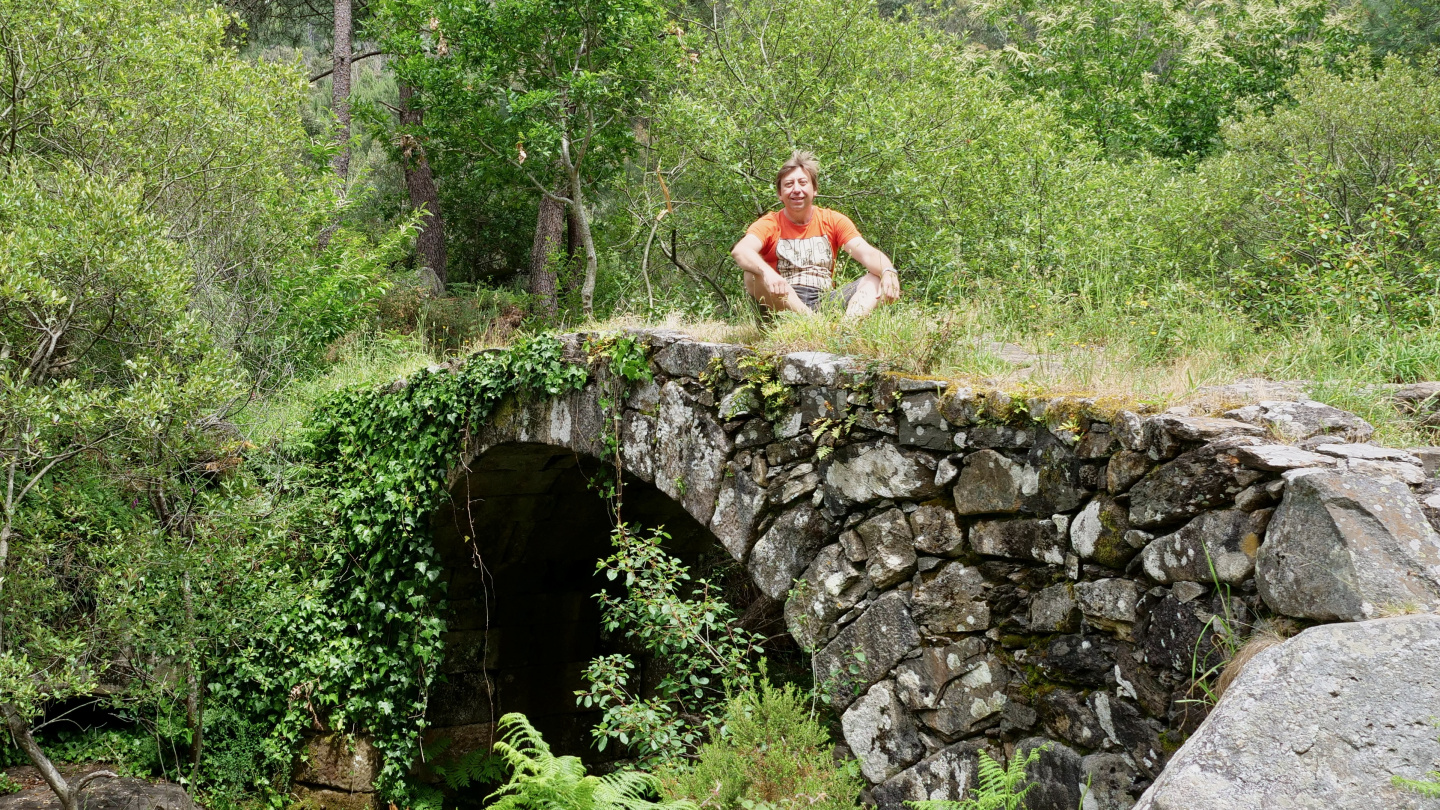 Andrus hiking in Galicia