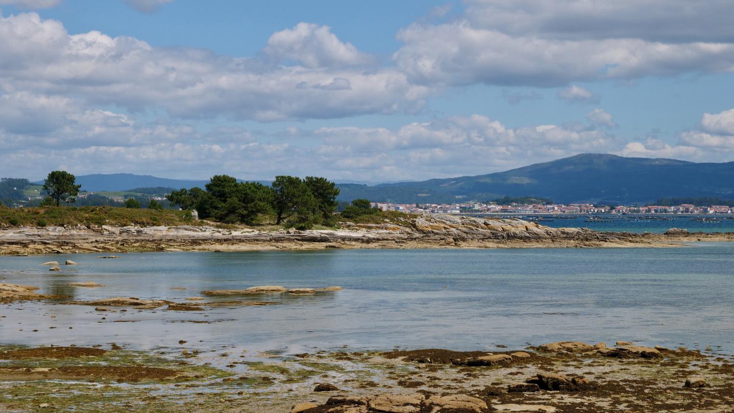 The beach of Illa de Arousa, Galicia